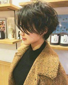 Short Hair Tomboy, Asian Short Hair, Short Black Hair, Tomboy Hairstyles, Hairstyles Haircuts, Hairdos, Shot Hair Styles, Curly Hair Styles, Cut My Hair