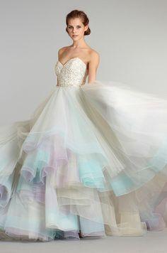 rainbow wedding dress - Google Search