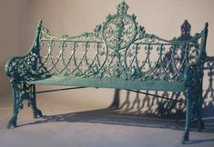 One of a pair of Gothic Revival cast iron garden benches,lassco.co.uk