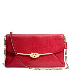Coach Madison Clutch In Textured Leather ($358)