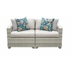 Sol 72 Outdoor Falmouth Loveseat with Cushions & Reviews | Wayfair...