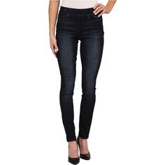 DKNY Jeans Pull On Leggings in Prestige Navy Wash Women's Jeans, Blue ($50) ❤ liked on Polyvore featuring pants, leggings, blue, pull on pants, navy leggings, stretch waist pants, 5 pocket pants and slim pants