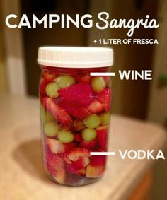 Sangria!   MMMM omg we need to do this for yellowstone