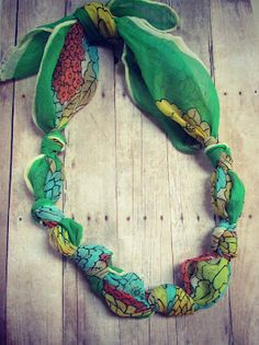 Easy Necklace: No Sew, No Beading, No Tools Required