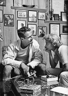 Paul Newman and Joanne Woodward                  I love these two, she must miss him, in Hollywood, they were a couple that stayed together - thats LOVE.