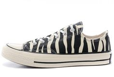 Limited Edition Vintage Engraved Converse Zebra Print Chuck Taylor All Star 1970s Low Shoes Outlet Factory Shop