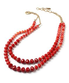 Love this Amrita Singh Ruby & Coral Bleeker Street Necklace by Amrita Singh on #zulily! #zulilyfinds