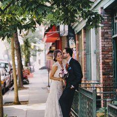 Lovers. #blushingbride #handsomegroom #ontheirweddingday #mrandmrs #theysaidido #tiedtheknot #nycweddings #ollistudio #nycweddingphotography #awardwinning #photojournalistic