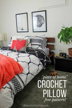 "Shop 18"" SOLID CORAL DECORATIVE PILLOW, Living Colors Coral Velvet Throw, Mini Box Black Speaker, Just Home Black & White Tile Comforter Sets and more"