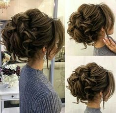 Drop-dead gorgeous loose messy updo wedding hairstyle for you to get inspired. Today's beautiful wedding hairstyles are the hottest bridal beauty trends Homecoming Hairstyles, Wedding Hairstyles For Long Hair, Fancy Hairstyles, Wedding Hair And Makeup, Bride Hairstyles, Hair Makeup, Hairstyle Ideas, Romantic Hairstyles, Makeup Hairstyle