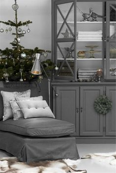 Try updating furniture with Crown Paints Non Drip Gloss in Arctic Grey or Silver Mine.