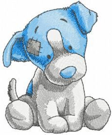 Chase dog machine embroidery design