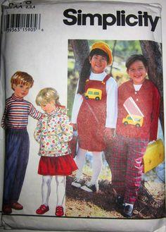Simplicity 9178 Boys Girls Top Pants Jumper Jacket by Denisecraft, $5.99