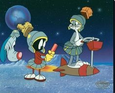 Bugs Bunny, Marvin Martian and Looney Tunes! Looney Tunes Characters, Looney Tunes Cartoons, Retro Cartoons, Old Cartoons, Classic Cartoons, Cartoon Tv, Vintage Cartoon, Animated Cartoons, Merrie Melodies