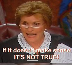 Thank you Judge Judy.