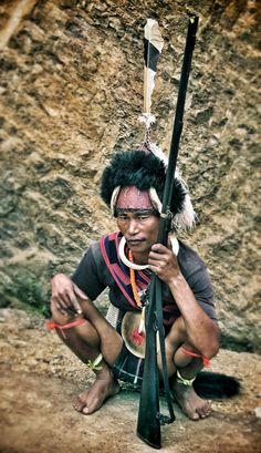 This guy got a gun #nagaland #warrior #india #portrait
