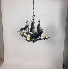 Intricately detailed US-made Spanish Revival style Spanish Galleon chandelier to sail over the dining room table. Spanish Revival, Spanish Style, Spanish Galleon, Dining Room Table, Kitsch, Rum, Sailing, Art Deco, Chandelier