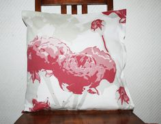 Rose Decorative Pillow Cover, Throw pillow cover, couch pillow cover, cushion case, Fresh for spring