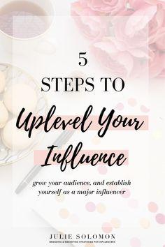 By Julie Solomon Julie Solomon, How To Influence People, Instagram Bio, Instagram Influencer, Multi Level Marketing, Influencer Marketing, Business Advice, Make Money Blogging, Fun Learning