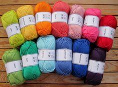 Gorgeous cotton yarn, a whole rainbow!