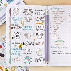 Check out this adorable PetitePlanner Meal Planner from Erin Condren! Bullet Journal 2020, Bullet Journal Notebook, Bullet Journal Aesthetic, Bullet Journal Layout, Bullet Journal Ideas Pages, Bullet Journal Inspiration, Bullet Journals, Meal Planner, Happy Planner