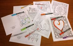 In honor of Valentine's Day you can download these FREE Zenspirations coloring pages and Valentine's Day cards. Find the link on this week's Zenspirations- BLOG; www.zenspirations.com