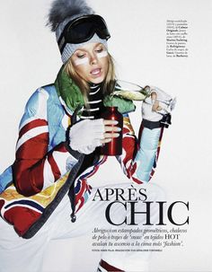 Apres Chic: Karo Mrozkova & Nyok Wesselius by Mark Pillai for Elle Spain January 2013