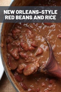 New Orleans–Style Red Beans and Rice Making red beans and rice from scratch is easy; all it takes is beans, vegetables, some cured pork and sausage, and patience. - New Orleans–Style Red Beans and Rice Slow Cooker Recipes, Crockpot Recipes, Cooking Recipes, Soul Food Recipes, Rice Recipes, Soul Food Meals, Fall Recipes, Ham Bone Recipes, Pinto Bean Recipes