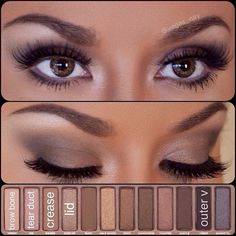 Techniques watches Simple eye makeup using the Urban Decay Palette. Simple eye makeup using the Urban Decay Palette. Kiss Makeup, Cute Makeup, Pretty Makeup, Makeup Looks, Hair Makeup, Stunning Makeup, Makeup Set, Makeup Glowy, Devil Makeup