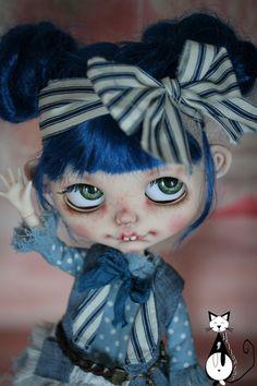 Ooak custom Blythe doll : Miss Zezette by heliantas on Etsy