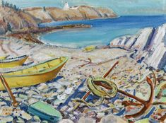 Arthur Lismer, Beach in New Brunswick, 1942 Dazzle Camouflage, Tom Thomson, Group Of Seven, Canadian Painters, Prince Edward Island, New Brunswick, Art Market, Art Boards, Vintage World Maps