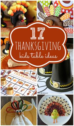 Awesome Thanksgiving Kids Table Ideas on www.prettymyparty.com