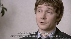 (Martin Freeman: The Office UK ) ^ This is usually my answer. I don't have a love life, because I love life. FREEDOM.