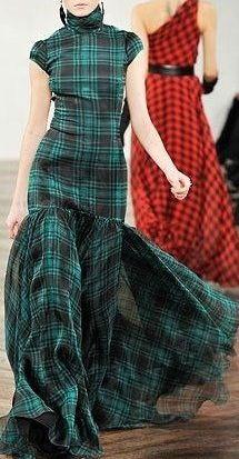 Tartan gowns