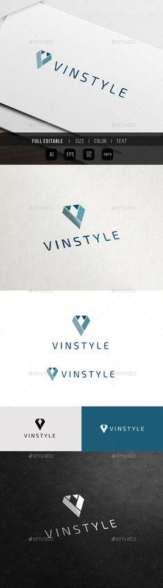 Gentle Style - Fashion Apparel - Tuxedo V Logo - Letters Logo Templates