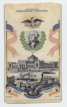 Philadelphia International Exhibition Souvenir Ribbon (1876)