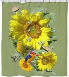 'Sunflower party' Canvas Print by NadineMay Sunflower Photography, Sunflower Party, Custom Shower Curtains, Friends Are Like, Art Boards, Photo Art, Vibrant Colors, Canvas Prints, Landscape