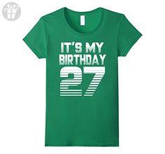 Womens It's My Birthday 27th T-shirt,1990 Birthday T-shirt Small Kelly Green - Birthday shirts (*Amazon Partner-Link)