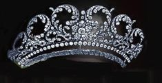 This is a lovely tiara called the Wrede tiara. It belongs to the Von Wrede family from Germany or Austria