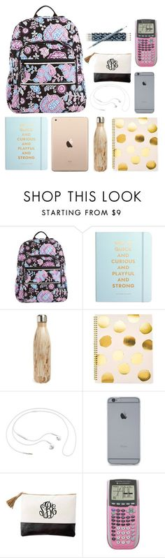 """what the heck is in my backpack"" by conleighh ❤ liked on Polyvore featuring Vera Bradley, Kate Spade, S'well, Sugar Paper and Samsung"