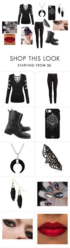 """Bad Girl"" by hellsqueen-765 ❤ liked on Polyvore featuring Steve Madden, Fifth & Ninth, Bling Jewelry, Amrapali and Sandy Hyun"