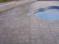 Stamped Concrete Patterns | many stamped concrete designs are available for the surrounding pool ...