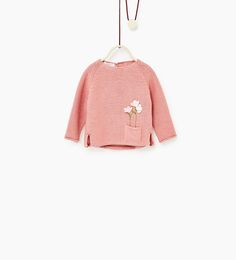 Floral sweater with pocket