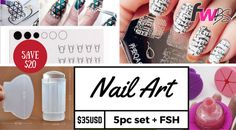NAIL SPECIAL!! 5pc NAIL ART stamping set