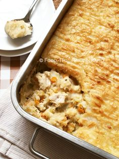 chicken pie with cheesy mash topping