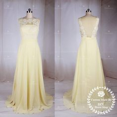 Lace Chiffon Prom Dress,Long Bridesmaid Dress,Sexy Prom Dress,Lace Bodice Chiffon Skirt Bridesmaid Dress for Wedding Party
