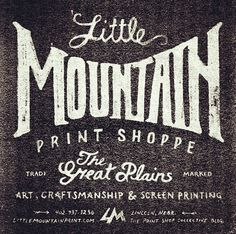 Little Mountain Print's Collection by Ligature Collective, via Behance