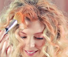 DIY Temporary Hair Color with Eye Shadow and this works really well!!