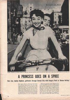 Audrey Hepburn  1950s 33415 - EphemeraForever.com