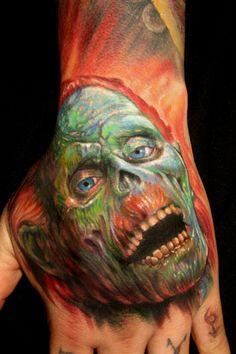 Return of the Living Dead zombie tattoo by Paul Acker of Philadelphia, PA